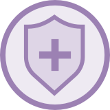 Health shield icon.